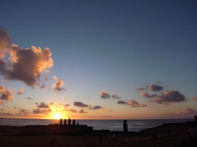 イースター島の夕暮れ