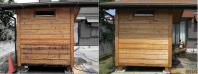 小屋洗浄側面