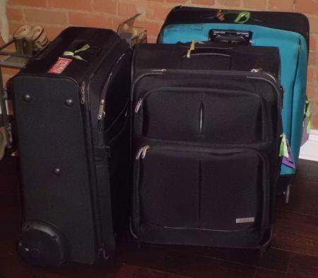 3個のスーツケース