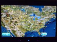 機内モニタGPS地図