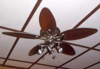 コテージ天井扇が回る