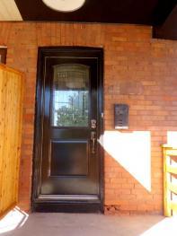 トロントのP宅玄関
