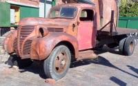 7日昔のトラック残骸