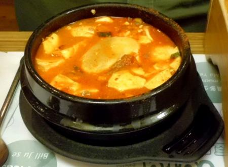7日韓国料理豆腐