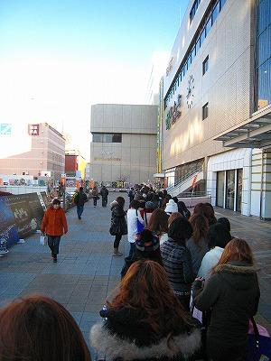 セシルマクビー福袋行列 高崎駅西口