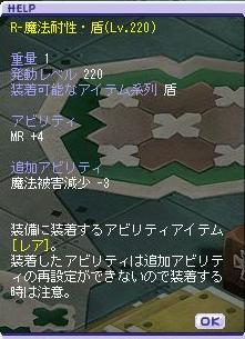 R-魔法耐性・盾(Lv220)