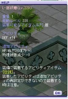 L-盾研磨(Lv.220)