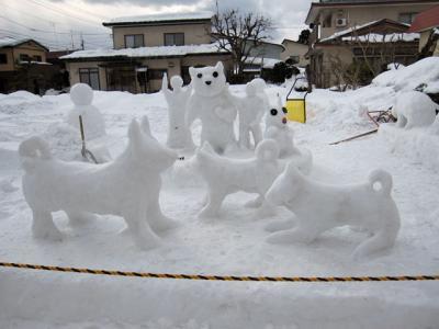 がんばろう東北 雪像