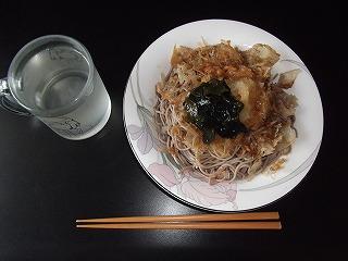 20110630-昼飯、ぶっかけソバ