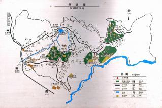 碧峰峡案内図