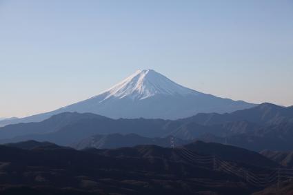 大菩薩の稜線から見る富士