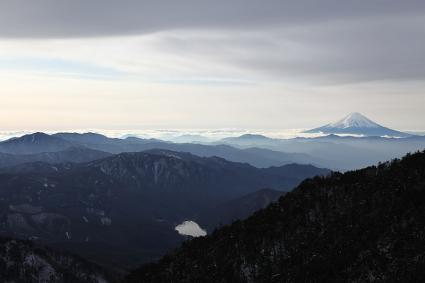 賽の河原から見た富士&大菩薩(だと思う。。。)