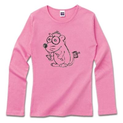 ねずみ チーズ オリジナル キャラクター 手書き Tシャツ