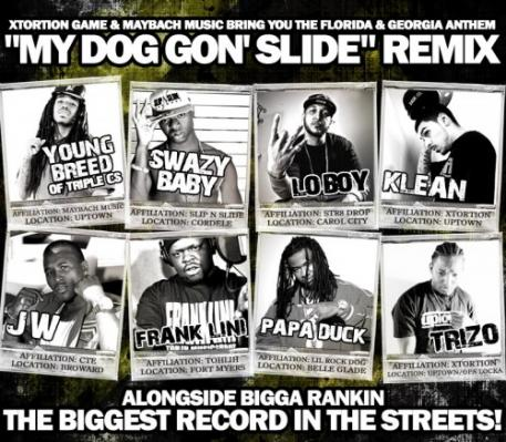 Young Breed, Swazy Baby, Lo Boy, Klean, JW, Frank Lini, Papa Duck, Trizo  Bigga Rankin- My Dog Gon Slide (Remix)