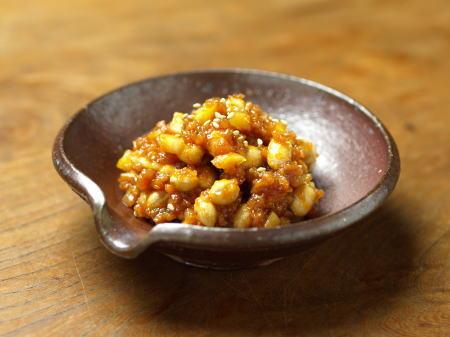 sニンニク豆味噌1