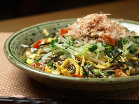 t納豆サラダ蕎麦2