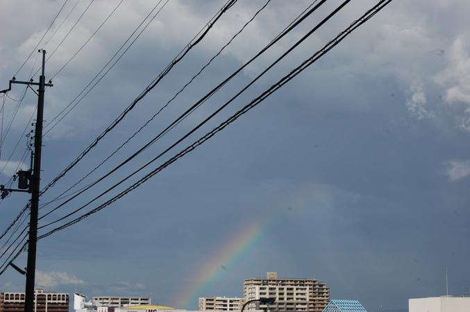 虹がでてる