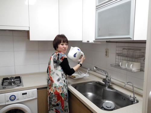 5-韓国ホテルのキッチン