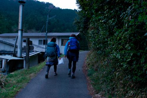 鞍馬までの道-夕暮れ01