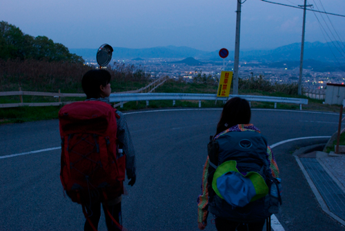葛城山帰り道真っ暗1