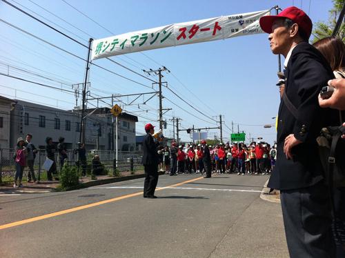 堺シティーマラソンスタート位置