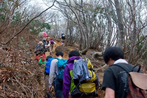 08蓬莱山登山道後半の道