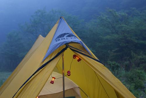 6-0テントの朝
