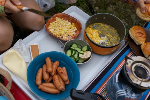6-5テントの朝食