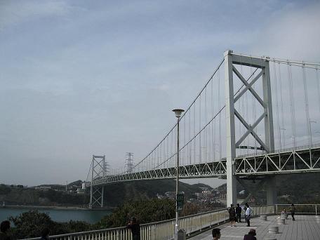 関門橋、本当は帰りに壇ノ浦SAで撮ったんだけど、まあいいか(ぁ