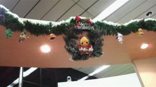 クリスマス飾りレジ上