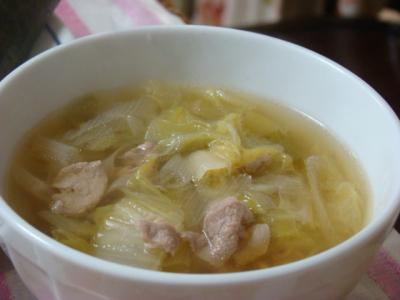 白菜と豚肉のスープ♪