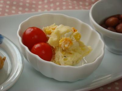 卵とコーンのポテトサラダ♪