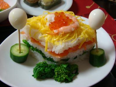 ひし形のお寿司♪