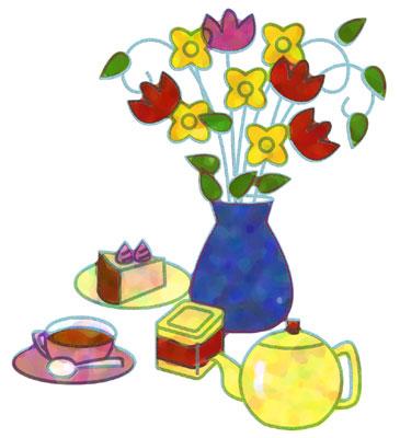 ポツトと花瓶