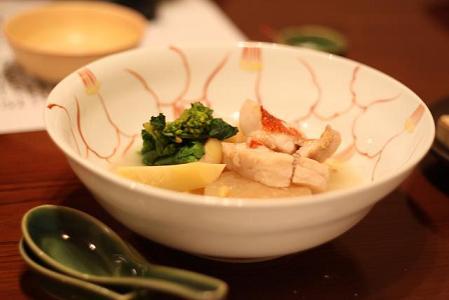 煮物 金目鯛 大根 筍 菜の花 そら豆 おねばあん