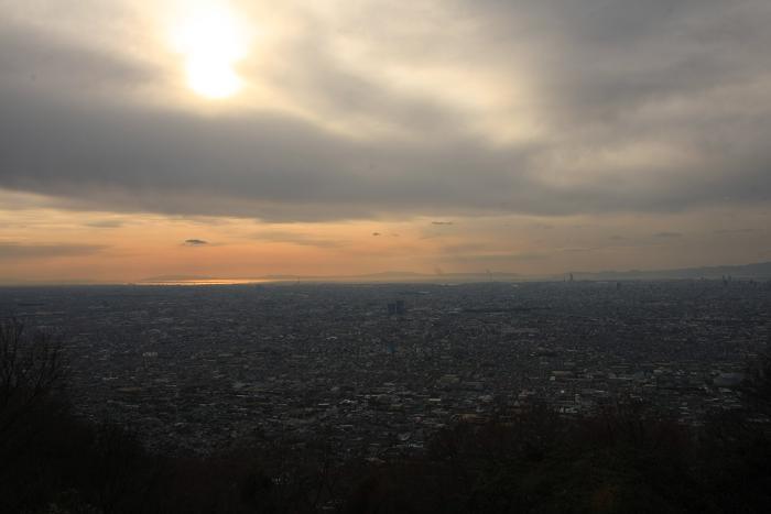 生駒山地より、1