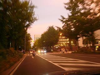 山下公園前の夕焼け
