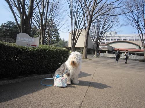 世田谷美術館の前で