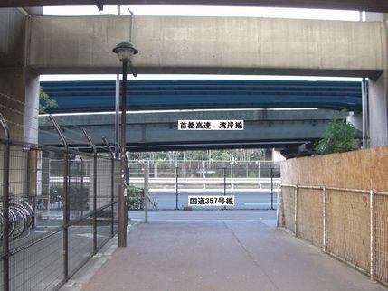 葛西臨海公園駅からの道のり_駐輪場付近