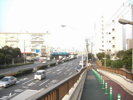 歩道橋上_環七通り側