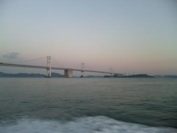 夜明けの瀬戸大橋