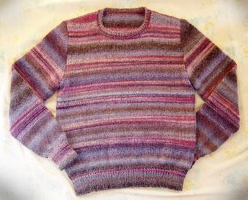 手編みのセーター 段染め毛糸 ダイヤドミナ
