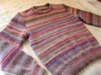 段染め糸のセーター ダイヤドミナ