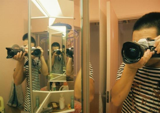 三面鏡と広角19mm