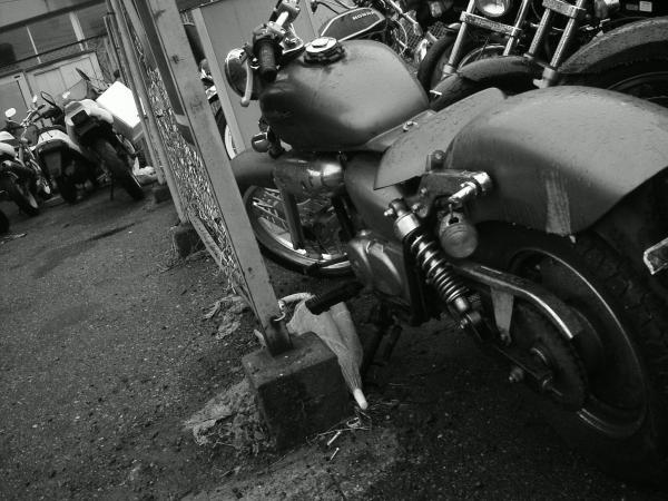 廃車待ちバイク置き場