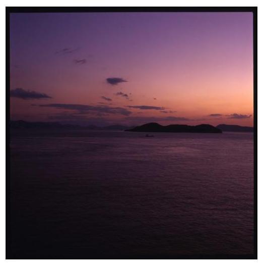 Sunset at Seto inland sea