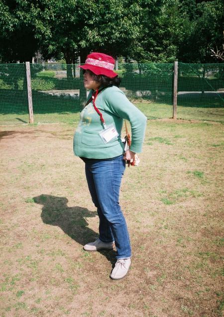 妊娠9ヶ月を横から