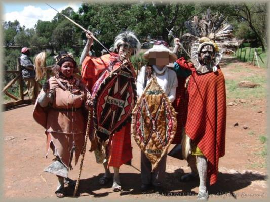 原住民の人達と共に
