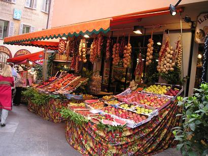 ルガーノのマーケット