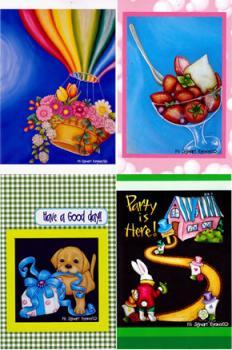 チョークアートポストカード